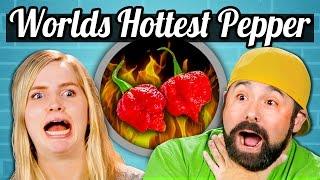 WORLD'S HOTTEST PEPPER CHALLENGE! - TEENS/ADULTS vs. FOOD