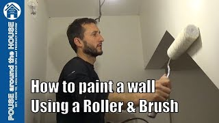 How to paint emulsion using a roller and brush, beginners guide. DIY painting made easy!