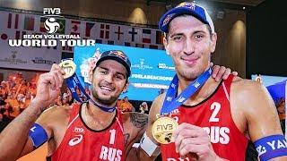 Men GOLD Beach Volleyball World Tour | Krasilnikov / Stoyanovskiy vs. Thole / Wickler