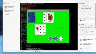 blackjack game (description below)