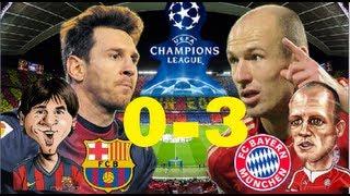 "Barcelona 0-3 Bayern Munich  TODOS LOS GOLES  HQ ""[~_~]"" ROBBEN,PIQUE,MULLER"