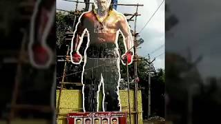 Madurai Thala Fans are Formed 30ft. Ajith Cut Out