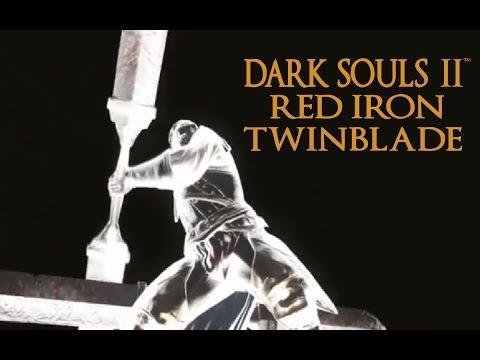 Dark Souls 2 Red Iron Twinblade Tutorial (dual wielding w/ power stance)