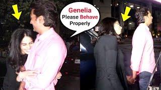 Genelia D'souza Drunk With Husband Ritesh Deshmukh Outside Yauatcha