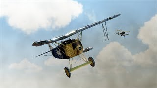 Rise of Flight - Incredible flying of a severely damaged Fokker DVIIF