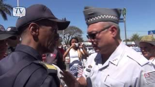 Confronto entre PM e Guarda Municipal no Desfile de Americana