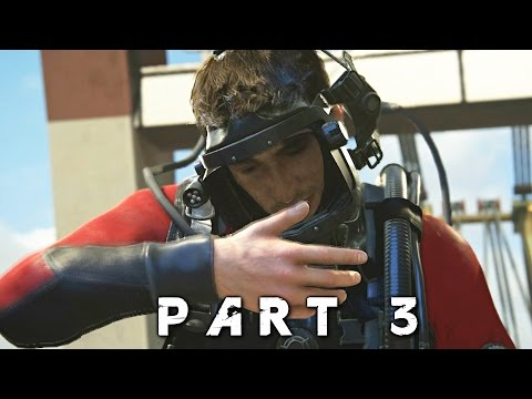 Scuba Diving in Uncharted 4 A Thief's End Walkthrough Gameplay Part 3 (PS4)