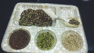 Alsi Khaane ka Sahi tareeka or Alsi k faide | Alsi seeds with sunflower and pumpkin seeds