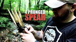 How To Make The 4 Pronged Spear For Hunting & Fishing | Bushcraft & Survival