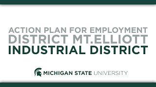 Action Plan for Employment District Mt. Elliott Industrial District