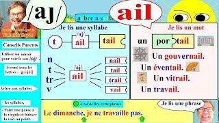 Apprentissage de la lecture Maternelle CP en Français # ail (101)
