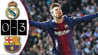 Real Madrid 0-3 Barcelona   Full Match   Partido Completo   Liga 2017/2018
