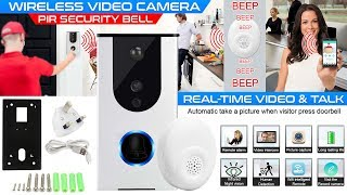 How to use Wireless Remote Video Camera PIR Security Bell