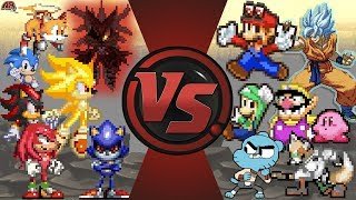 SONIC FORCES vs THE WORLD! (Sonic Forces vs Mario Odyssey, Dragon Ball Super & More) Sonic Animation