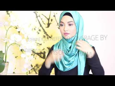 Xxx Mp4 Sufyaa Hijab Tutorial Simple Side Drape Style With Luxe Satin Shawl 3gp Sex
