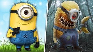 Cartoon Characters as Monsters! 😱