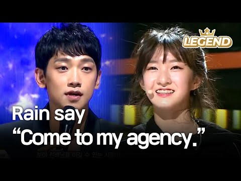 "Youngest contestant's charisma makes Rain say, ""Come to my agency."" [The Unit2017.12.07]"
