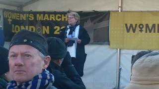 Sandi Toksvig Speaking At The Womens March London