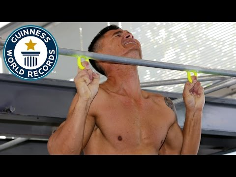Most two finger pull ups in one minute Guinness World Records