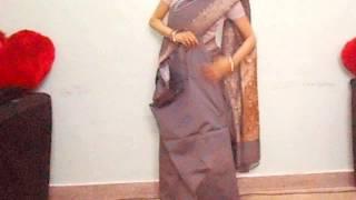 How To Wear Silk Saree-How To Drape Indian Saree/Sari Tutorial Video