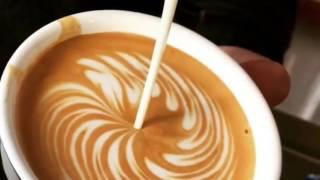 best latte art terbaik part 2 roseta , love , swan , tulip ,