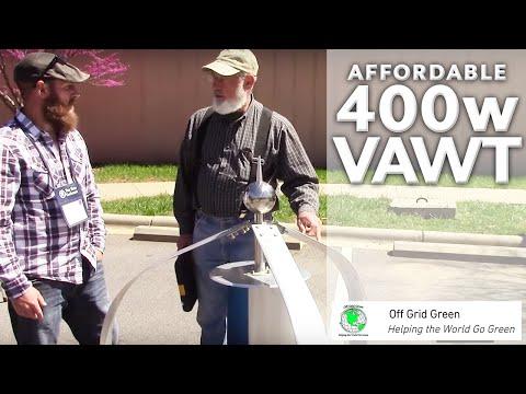 Affordable 400 Watt VAWT Vertical Axis Wind Turbine Starts at 6 MPH