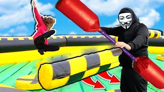 Project Zorgo Ninja Training - Insane Inflatable Obstacle Course!