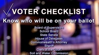 Your 2015 Election Checklist