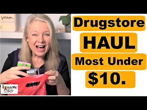 Drugstore Haul, My Top 10 Finds & Not just Beauty & Makeup, Mature over 50 Women