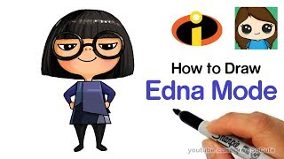 How to Draw Edna Mode Easy   The Incredibles