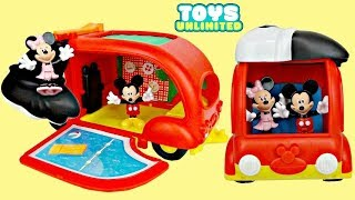 Disney Jr. Mickey Mouse Clubhouse Friends CRUISIN' CAMPER Playset Minnie Toy  Pool Slide / TUYC