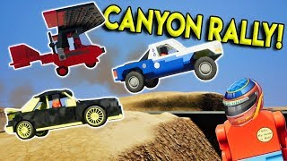ULTIMATE LEGO CANYON RACE - Brick Rigs Multiplayer Challenge Gameplay - Rally, Downhill & Plane Race