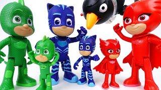 Super Villains in The PJ Masks Headquarter~! Go Giant PJ Masks
