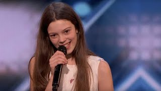 AGT: 13-Year-Old Courtney Hadwin Shocks the Audience, Gets The Golden Buzzer