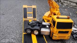 Loader lori double dan crane dan  scania kemalangan drc toys