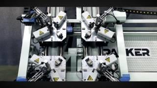 Aluminum Window Door Making Machine Four Heads CNC Corner Crimping Machine