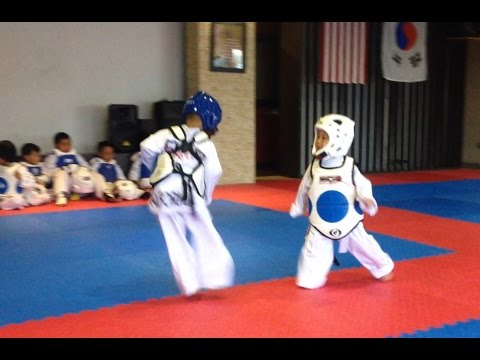 Xxx Mp4 Awesome Taekwondo Sparring Match My 3 Year Old Son On Blue Helmet 3gp Sex