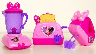 Minnie Bowtastic Mixer Toaster and Blender Playing Kitchen and Cooking