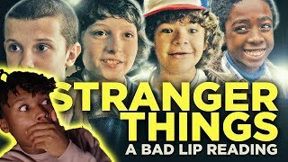 STRANGER THINGS | A Bad Lip Reading  | Reaction