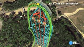Take a virtual ride on the world's tallest roller coaster