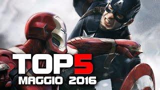 Top 5 FILM AL CINEMA - MAGGIO 2016 (Captain America: Civil War)