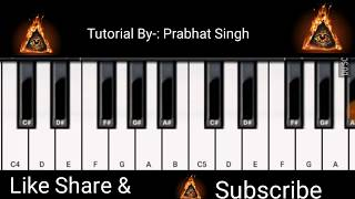 Baarish Piano(Half Girlfriend), Ash King - Mobile Perfect Piano Tutorial