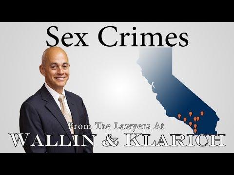 California Sex Crimes Overview
