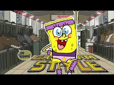PSY Gangnam style Sponge bob parody