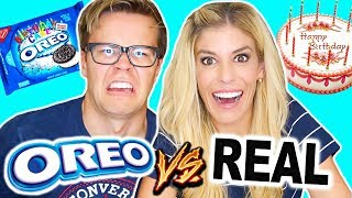 TRYING OREOS VS. REAL FOOD CHALLENGE! (gross and disgusting flavors)