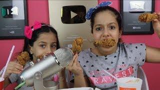 أصوات الأكل الحقيقية  كنتاكي وبوبايز| أقوى صوت اكل ممكن تسمعه !!!