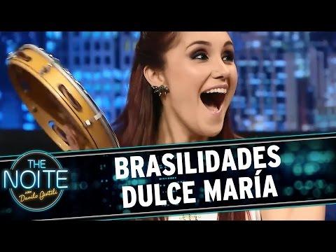 The Noite 21 04 15 Dulce Maria demonstra sua brasilidade no palco do The Noite