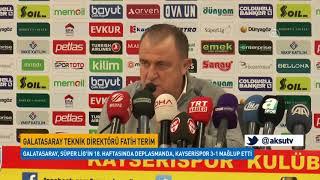 Kayserispor Galatasaray Maçının Ardından Açıklamalar