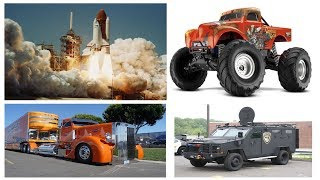 Cars and Trucks. Learning Street Vehicles Names for Kids. Transport Concrete Mixer Sports Cars Toys