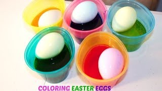 Coloring Easter Eggs with Sofia the First and Hello Kitty Stickers| B2cutecupcakes